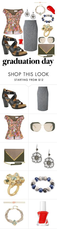 """Untitled #1665"" by moestesoh ❤ liked on Polyvore featuring Söfft, RED Valentino, Peter Pilotto, Karen Walker, Dareen Hakim, Azaara, Thomas Sabo, Nanette Lepore, Essie and Burberry"