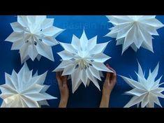 Comment faire une étoile en papier. Décoration de Noël. Bricolage de Noël.