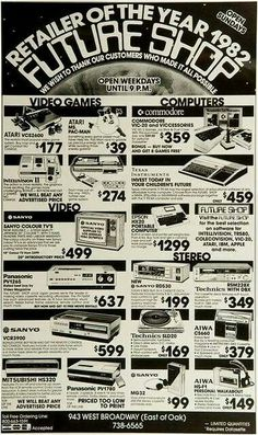 Future Shop Celebrates Anniversary with Blast from Past Computer Technology, Gaming Computer, Teaching Technology, Teaching Biology, Computer Science, Retro Ads, Vintage Ads, Old Advertisements, Advertising