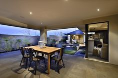 Smaller version of living area tile used on alfresco