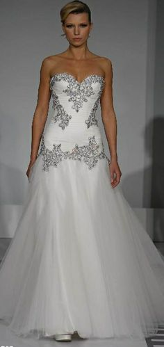 Cheap Bling Bling Mermaid Tulle Wedding Dress Sweetheart Beaded Crystal  Floor-Length 0757 Pnina Tornai Wedding Bridal Gowns Lace Up Back 702d3dc51ece