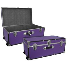 Large Luggage Trunk with Wheels