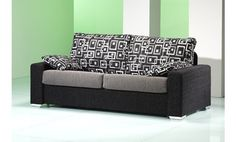 Sofá tres plazas tapizado en tela. Varios colores