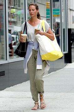 Double iced latte! #ChristyTurlington looking every inch a super, #offduty NYC