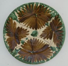 Vintage Mexican Pottery Glazed Plates Oaxaca Four (4) from blacktulip on Ruby Lane
