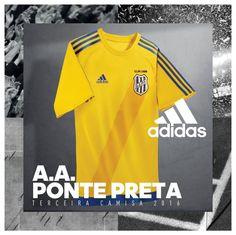 Terceira camisa amarela da AA Ponte Preta 2016 Adidas 2a8847a5c3460