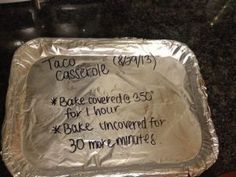 Make Ahead Freezer Meals Southern Living& Taco Casserole Freezer Meal- Quick, Easy, and freezes for up to two months! 6 Freezer Meals in one place! The post Make Ahead Freezer Meals & Yummy Things appeared first on Yorgo. Plan Ahead Meals, Make Ahead Freezer Meals, Crock Pot Freezer, Freezer Cooking, Freezer Recipes, Hamburger Freezer Meals, Cooking Tips, Bulk Cooking, Easy Cooking