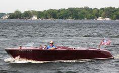 Boating on Tippecanoe Lake in Indiana