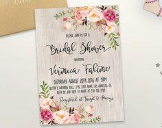 Invitación de boda invitación imprimible boda por DigartDesigns