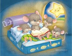 Happily ever after pieces) Mickey Mouse Y Amigos, Cute Mouse, Gif Animé, Vintage Easter, I Love Books, Whimsical Art, Beautiful Lights, Stars And Moon, Good Night