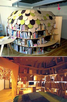 How cool is this book nook?!