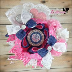 Blue Jean Cutie Boutique Bow OOAK Country Chic An Auction Style Event Opens 5/12/15 at 5 PM CST Closes at 5/14/15 at 9 PM CST Purchase Here: www.facebook.com/dollhousedesigngroup