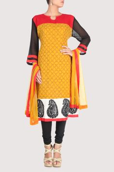 Red and black and overall scrolling patterns. Shop Now: www.karmik.in/shopping/index.php