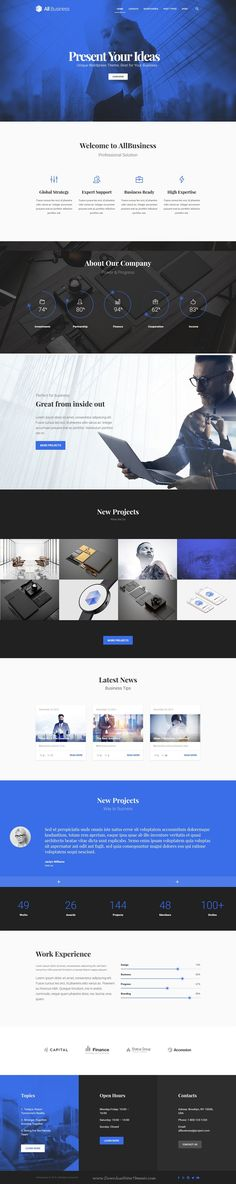 All Business is wonderful material design #WordPress Theme for #Corporate and Company #websites. Download Now!