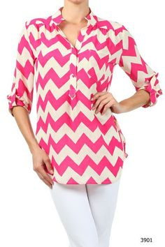 Printed T-Shirt,Chevron Zigzags Fashion Personality Customization