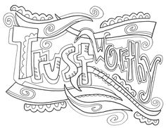 Characteristics of Successful Students - Coloring Page ...