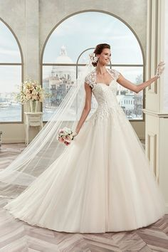 Colet Nicole Spose coab17213 - Koonings Bruid & Bruidegom #schouderbandjes #tule #zijde #hartvorm #koonings
