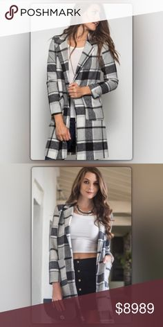 Coming Soon! Grey Plaid Coat Coming Soon! Winter will be here before you know it! Stay warm and chic in this plaid gray coat. The coat has two large front pockets and is fully lined. It hits between the thigh and knee. Like to be notified when it arrives or pre-order for only $79! (Regular price $89). NEW Boutique Jackets & Coats