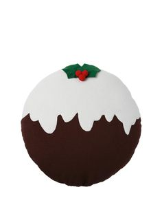 Christmas Pudding Cushion with 3D DetailThis Christmas pudding cushion might look good enough to eat, but the only thing it will be plumping up is your sofa.A great way to give your home festive taste, this Christmas pudding cushion is a sweet and stylish seasonal decoration that can be placed on your couch, chair, bed or even among the presents under the tree.Useful info: Christmas pudding cushion3D detailChristmas decorationsDimensions: 38 x 38 x 10 cmColour: Red/Green/White/Brown.