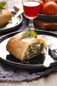 Silverbeet and ricotta pie.