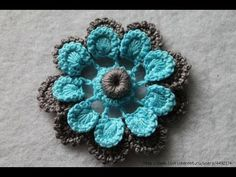 Como Tejer Flores a Crochet muy facil, My Crafts and DIY Projects
