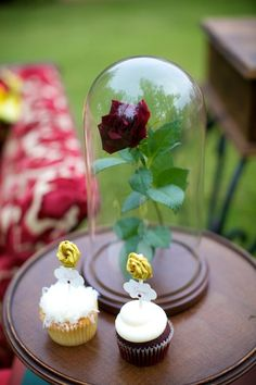 disney themed wedding party.. Have a symbolic piece from a classic disney movie as each center piece.