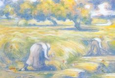 Charles Angrand, Wheat - Charles Angrand - Wikipedia, the free encyclopedia Post Impressionism, Impressionist, Théo Van Rysselberghe, Robert Delaunay, Crayon Drawings, Georges Seurat, Pointillism, Mondrian, Artist Art