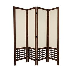 Oriental Furniture 5 1/2 ft. Tall Open Lattice Fabric Room Divider... (2.061.300 IDR) ❤ liked on Polyvore featuring home, home decor, panel screens, asian room dividers, fabric home decor, oriental home decor, oriental room dividers and asian home decor
