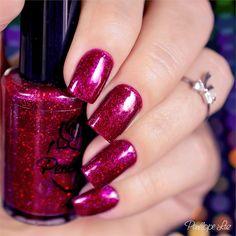 Esmalte Ruby Eyes - Coleção Delirium - Penélope Luz. Glamour. Indie Polish. Nails. Nail art. Nail design.