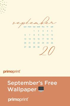 Primoprint Design: September Free Digital Wallpaper