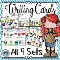There are more than 230 writing prompts task cards plus recording sheets for most of them. This is your writing center for the year! Perfect for first grade and end of year Kindergarten.All sets have now been updated - more cards, recording sheets and fon