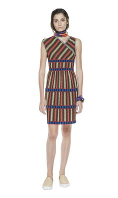 #MMissoni   Vertical cyber knit dress   Summer 2014 Collection
