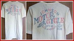 【楽天市場】【全国送料無料】Johnson Motors Inc.【ジョンソンモータース】MOTOR CYCLE CO.DIRTY WHITEメンズ/トップス/Tシャツ/プリント/オフホワイト/ヴィンテージ/アメリカ/バイカーズ/インポート/白/ロゴ/モーターサイクル/【楽天●メンズF】:SUSAN and WILLY