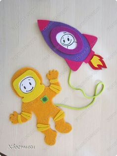Spaceman and rocket 1/3