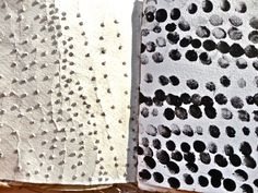 Art Sketchbook - mark-making experiments; surface pattern & texture creation // Sophie Munns