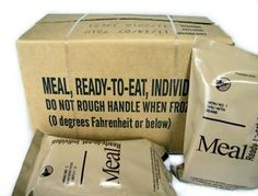 Case (12 Meals) of Menu C Military MRE's with Heaters, 2010
