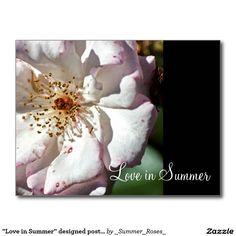 """Love in Summer"" designed postcard"
