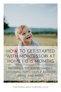 Looking for easy ways to get started with Montessori at home with your month old? Keep reading to learn everything you need to know to get started - how to prepare a Montessori environment at home, fun activity ideas, parenting tips, and more! Natural Parenting, Peaceful Parenting, Gentle Parenting, Toddler Learning Activities, Infant Activities, Fun Activities, Montessori Baby Toys, Montessori Practical Life, Parenting Books