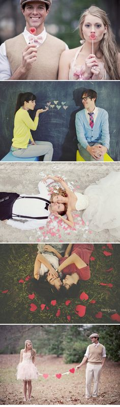 Adorable wedding/engagement photos