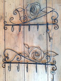 . Wire Crafts, Metal Crafts, Wire Wrapped Jewelry, Wire Jewelry, Wire Hangers, Hanger Hooks, Wire Board, Barbed Wire Art, Hanger Crafts