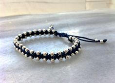 Elegant Wrap Beaded Bracelet with Silver Plated by OneiricHearts, €12.00