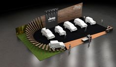 Jeep on Behance Exhibition Stall, Exhibition Booth Design, Exhibition Display, Car Expo, Showroom Interior Design, Pavilion Design, Pop Up Shops, Display Design, Art Cars