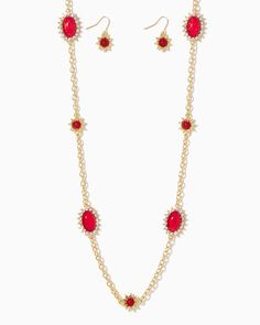 charming charlie | Cabochon Star Opera Necklace Set | UPC: 410007124737 #charmingcharlie