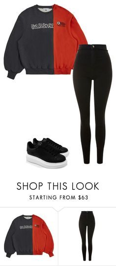 """""""Outfit"""" by elzikaa on Polyvore featuring Gosha Rubchinskiy, Topshop and Alexander McQueen"""
