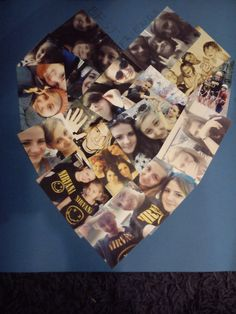 make your own heart shaped photo collage!It's a perfect gift idea to your friend