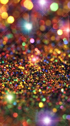 Colorful Glitter Sparkle Glow iPhone Wallpaper