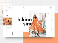 Bikino Sinc UI - Expolore the best and the special ideas about Interface design Website Design Inspiration, Beautiful Website Design, Design Blog, Ui Ux Design, Interface Design, Portfolio Design, Grid Design, Branding Design, Logo Design