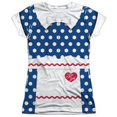 I Love Lucy Costume Junior T Shirt