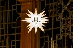 The Moravian Star hangs in Wait Chapel. The 50th Annual Wake Forest University Lovefeast will be held on December 7, 2014. Watch live at lovefeast.wfu.edu #WFULovefeast #Lovefeast