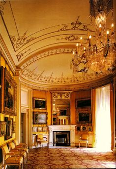 The Yellow Drawing Room, Apsley House, No.1 London. This room retains its Robert Adam decor, but the house was enlarged and remodeled extensively by James Wyatt for the 1st Duke of Wellington. JC